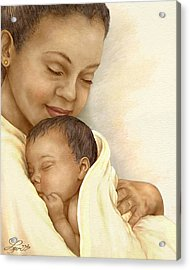 Mother Acrylic Print by Beverly Levi-Parker