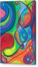 Mother Earth - Plant Healing - Gaia - Heart Chamber Awakening Acrylic Print by Daina White