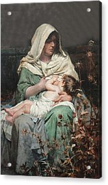 Motherhood Acrylic Print by Henrique Bernardelli