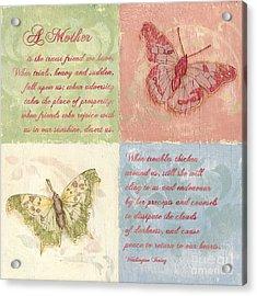 Mothers Day Butterfly Acrylic Print by Debbie DeWitt