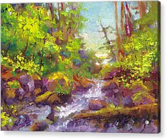 Mother's Day Oasis - Woodland River Acrylic Print by Talya Johnson