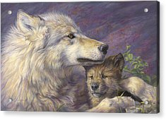 Mother's Love Acrylic Print by Lucie Bilodeau