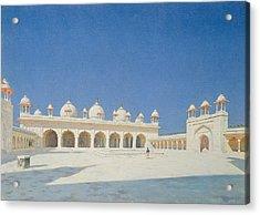 Moti Masjid, Agra Acrylic Print by Vasili Vasilievich Vereshchagin