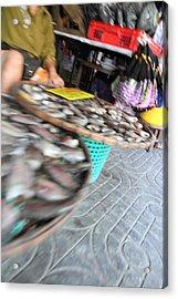 Motion Blurred Street Markets - Bangkok Thailand - 01131 Acrylic Print by DC Photographer