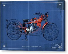 Moto Guzzi Gt Norge 500 1928 Acrylic Print by Pablo Franchi