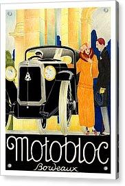 Motobloc Acrylic Print by Lyle Brown