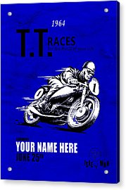 Motorcycle Customized Poster 3 Acrylic Print by Mark Rogan