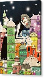 Mouldy City Acrylic Print by Yoyo Zhao