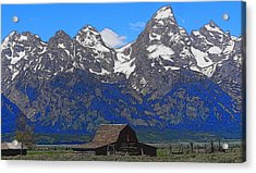 Moulton Barn In Grand Teton National Park Acrylic Print by Dan Sproul