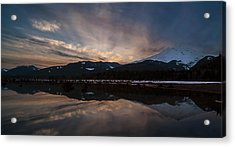 Mount Baker Sunset Acrylic Print by Mike Reid