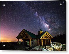 Mount Evans Visitor Cabin Acrylic Print by Darren  White