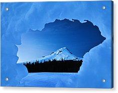 Mount Hood Blues Acrylic Print by Darren  White