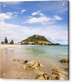 Mount Maunganui Bay Of Plenty New Zealand Acrylic Print by Colin and Linda McKie