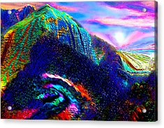 Mount Of Visionaries V.14 Enhanced Acrylic Print by Rebecca Phillips