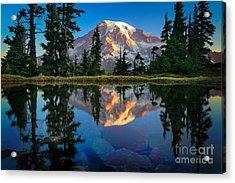 Mount Rainier From Tatoosh Range Acrylic Print by Inge Johnsson