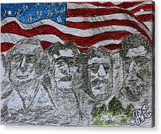 Mount Rushmore Acrylic Print by Kathy Marrs Chandler