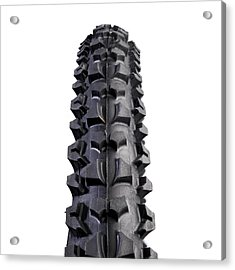 Mountain Bike Tyre Acrylic Print by Science Photo Library