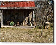 Mountain Cabin In Tennessee 3 Acrylic Print by Douglas Barnett