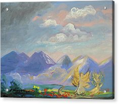 Mountain Dream Acrylic Print by Patricia Kimsey Bollinger