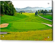 Mountain Golf Acrylic Print by Frozen in Time Fine Art Photography