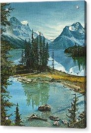 Mountain Island Sanctuary Acrylic Print by Mary Ellen Anderson