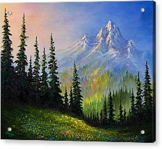 Mountain Morning Acrylic Print by C Steele