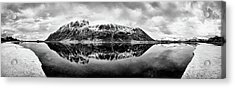 Mountain Reflection Acrylic Print by Dave Bowman
