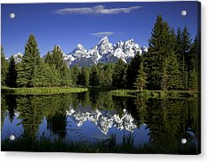 Mountain Reflections Acrylic Print by Andrew Soundarajan