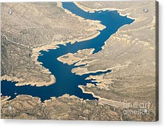Mountain River From The Air Acrylic Print by Darleen Stry