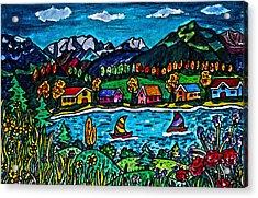 Mountain Sail Acrylic Print by Monica Engeler