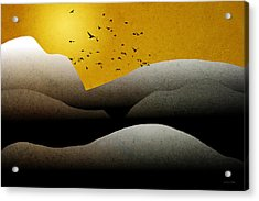 Mountain Sunrise Landscape Art Acrylic Print by Christina Rollo