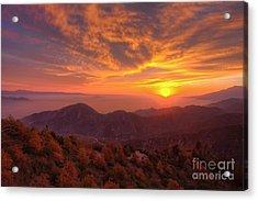 Mountain Sunset Acrylic Print by Eddie Yerkish