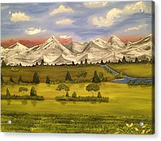 Mountain View Acrylic Print by Scott Wilmot