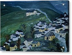 Mountain Village Acrylic Print by Inge Lewis
