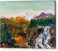 Mountain Water Acrylic Print by Mary Carol Williams