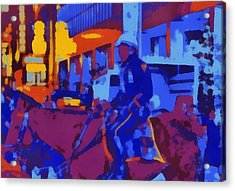 Mounted Nypd Pop Art Acrylic Print by Dan Sproul