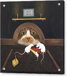 Mouse House Acrylic Print by Karen Zuk Rosenblatt