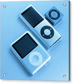 Mp3 Players Acrylic Print by Science Photo Library