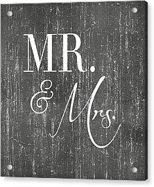 Mr. And Mrs. Acrylic Print by Jaime Friedman