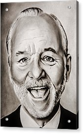 Mr Bill Murray Acrylic Print by Brian Broadway