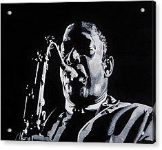 Mr Coltrane Acrylic Print by Brian Broadway