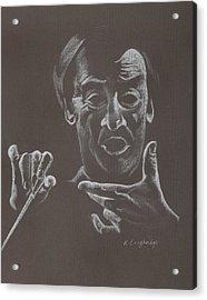 Mr Conductor Acrylic Print by Karen Loughridge KLArt