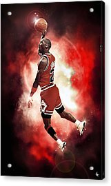 Mr. Michael Jeffrey Jordan Aka Air Jordan Mj Acrylic Print by Nicholas  Grunas