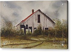Mr. Munker's Old Barn Acrylic Print by Charles Fennen