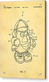 Mr Potato Head Patent Art 2001 Acrylic Print by Ian Monk