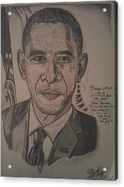 Mr. President Acrylic Print by Demetrius Washington