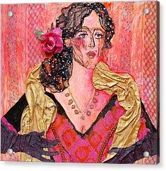 Mrs. Dedlocke Acrylic Print by Diane Fine