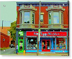 Mrs Tiggy Winkle's Toy Shop And Lost Marbles Richmond Rd The Glebe Paintings Ottawa Scenes C Spandau Acrylic Print by Carole Spandau