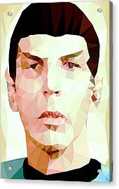 Mr.spock Acrylic Print by Daniel Hapi