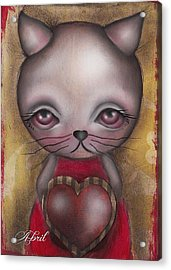 Ms. Cat Acrylic Print by  Abril Andrade Griffith